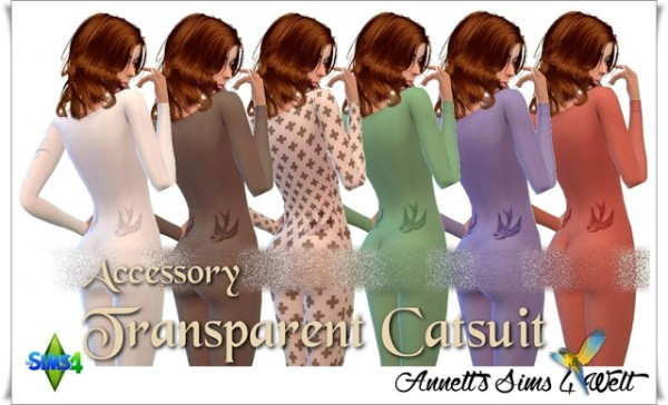 Annett`s Sims 4 Welt: Accessory Transparent Catsuits