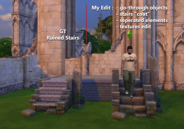 Mod The Sims: Useful ruin stairs by artrui