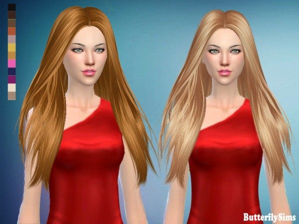Butterflysims: ButterflySims 184 no hat  donation hairstyle