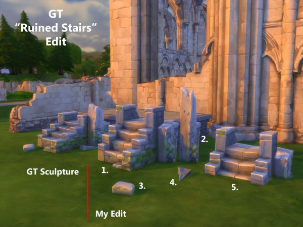 Mod The Sims Useful Ruin Stairs By Artrui Sims 4 Downloads