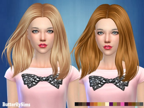 Butterflysims: ButterflySims 185 NO hat  donation hairstyle