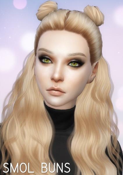 Aveira Sims 4: Simpliciaty Buns   Retexture
