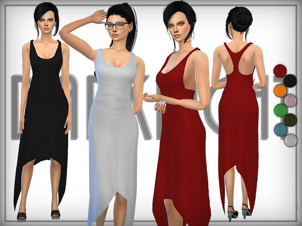The Sims Resource: Racer Back Jersey Dress by DarkNighTt