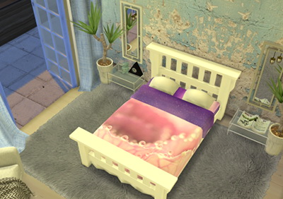 Enure Sims: Pretty in Pink Leafs  Bed Recolors