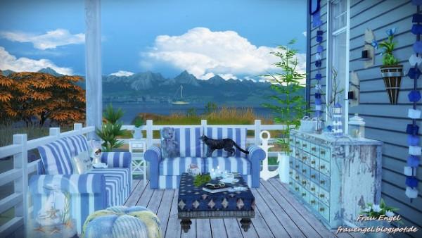 Frau Engel The Beach Cottage Sims 4 Downloads