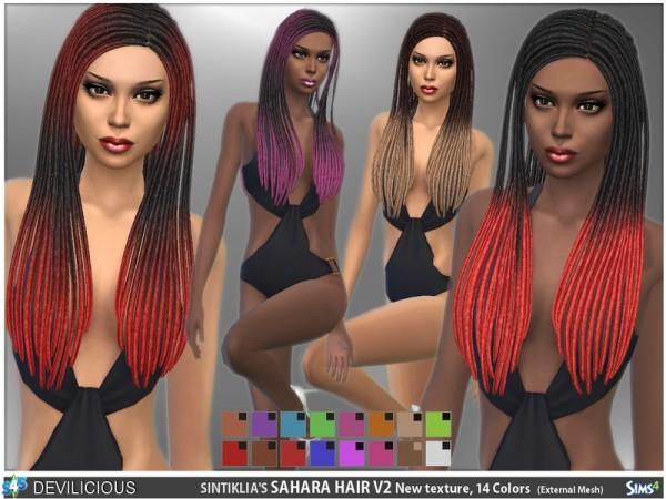 The Sims Resource: Sintiklias Sahara Hair & Beads by Devilicious