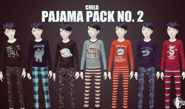 Onyx Sims: Pajama set pack 2