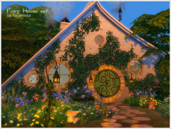 Sims By Severinka Fairy House Set Sims 4 Downloads