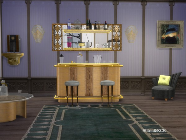 The Sims Resource Art Deco Home Bar By Shinokcr Sims 4