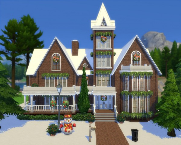 Simplicity sims: Victorian house no CC • Sims 4 Downloads