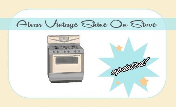Sims 4 Designs: lvar Vintage Stove converted from TS3 to TS4