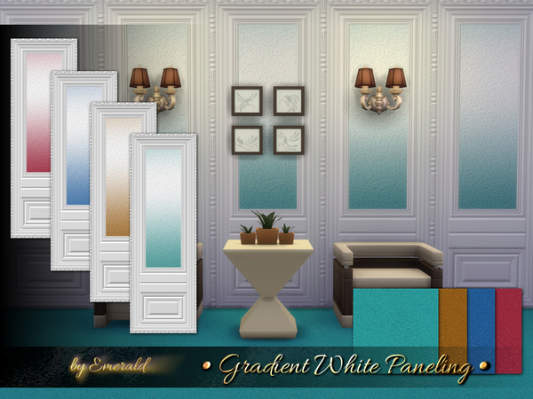 The Sims Resource: Gradient White Paneling by Emerald