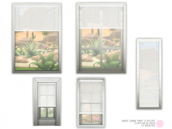The Sims Resource: Custom Blinds Short Set by DOT