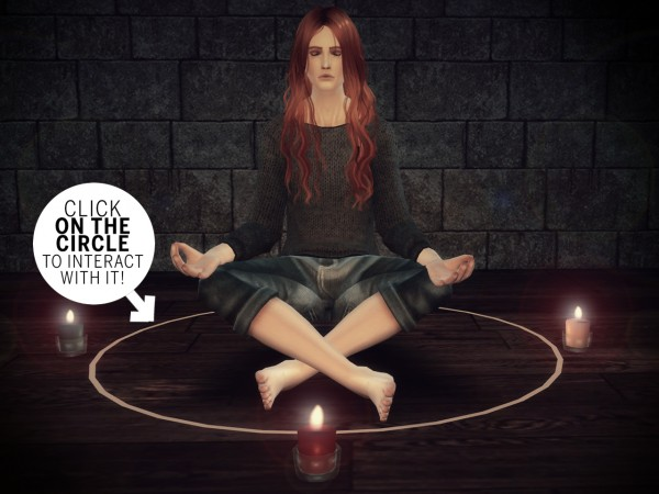 The Path Of Nevermore: Meditation stool: functional magic circle