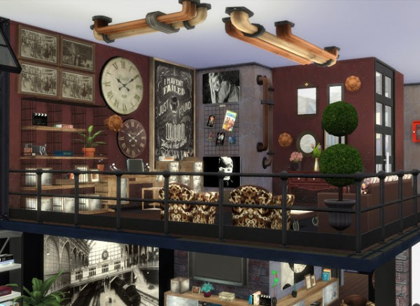 Pqsims4 Industrial Style Loft Sims 4 Downloads