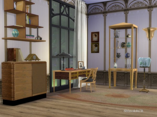 The Sims Resource: Art Deco Home Office by ShinoKCR
