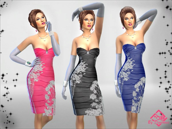 The Sims Resource: Nature Glitter Dresses by Devirose