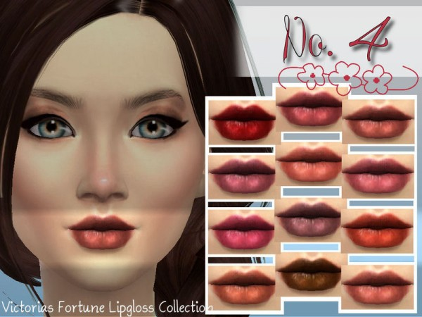 The Sims Resource: Lipgloss No. 4 by fortunecookie1