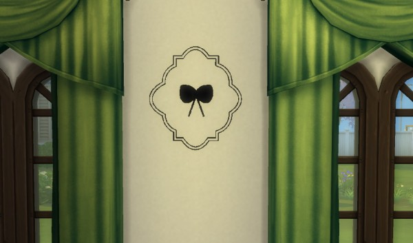 Sims4ccbyhina: Romantic Wall Stencil Set 2