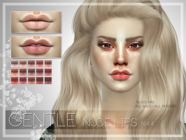 The Sims Resource: GENTLE Nude Lips   N44 by PralineSims