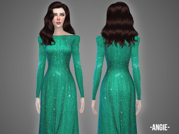 The Sims Resource: Angie   gown by April