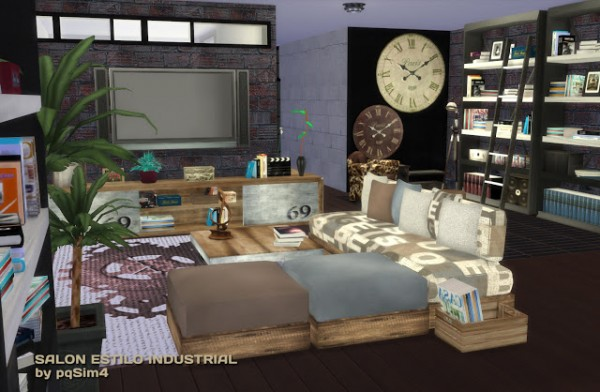 Pqsims4 Industrial Livingroom Sims 4 Downloads
