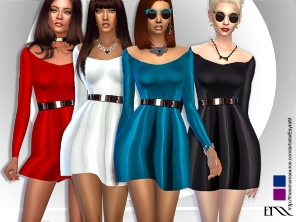 The Sims Resource: Mia Satin Dress by EsyraM