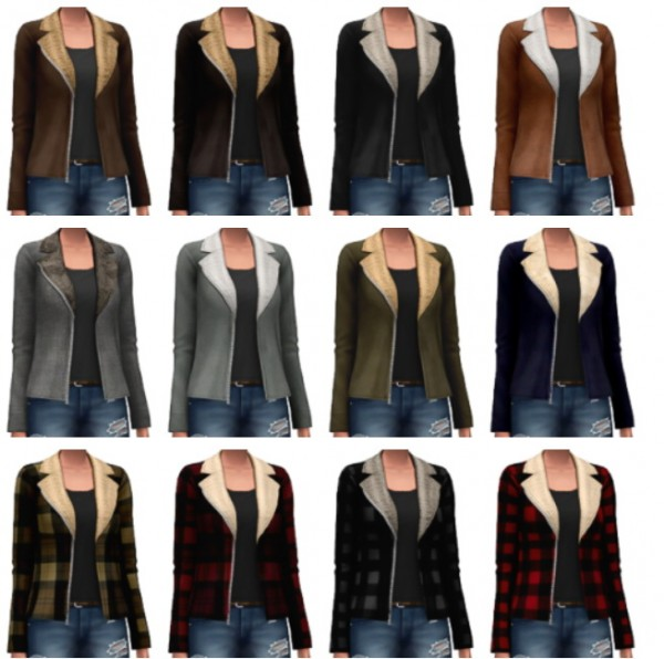 Marvin Sims: Shearling Jackets • Sims 4 Downloads - Decor Tiles And Floors