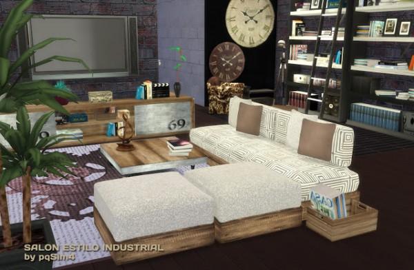 PQSims4: Industrial livingroom