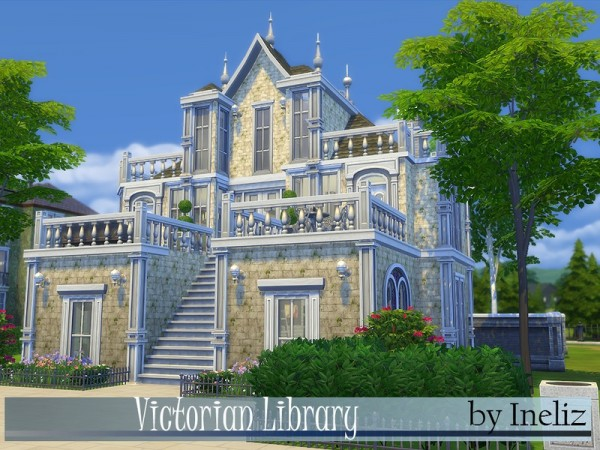 The sims resource victorian library by ineliz sims 4 for Maison de raiponce