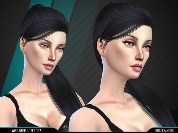 The Sims Resource: Eyeliner Set of 2 by SIms4Krampus