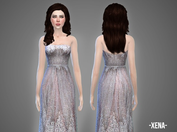 The Sims Resource: Xena   wedding gown by April