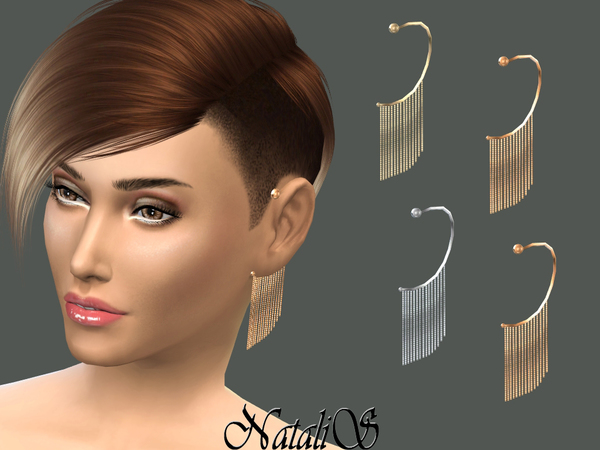 The Sims Resource: Chain Fringe Ear Cuff Left by NataliS
