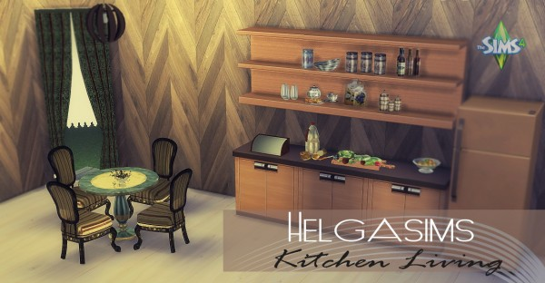 Sims 4 designs helgasims living kitchen sims 4 downloads for Kitchen ideas sims 4