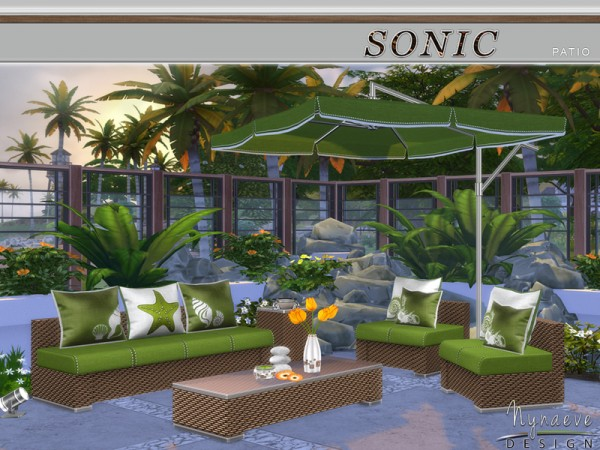The Sims Resource: Sonic Patio by NynaeveDesign