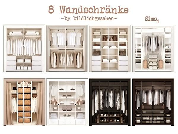 Akisima Sims Blog: Closets & Wooden Beds