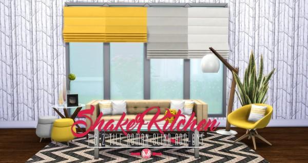 Simsational designs: Shaker Kitchen Addons   1 and 2 Tile Roman Blinds
