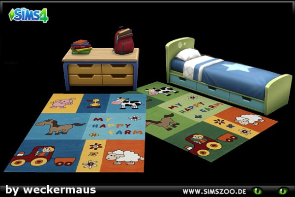 Blackys Sims 4 Zoo: Kids rugs 06 by weckermaus