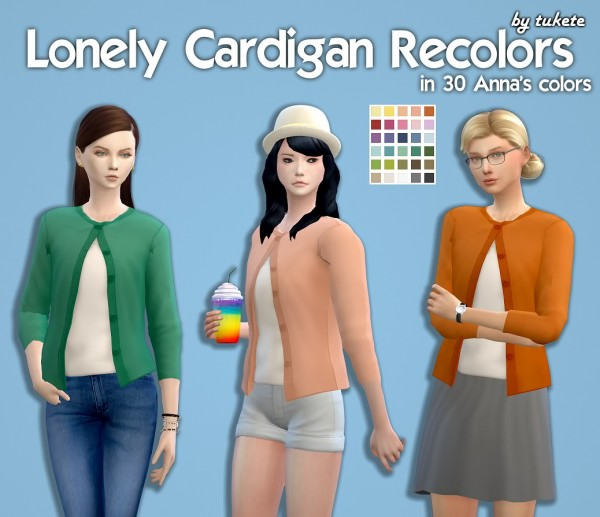 Manueapinny: Lonely Cardigan Recolors