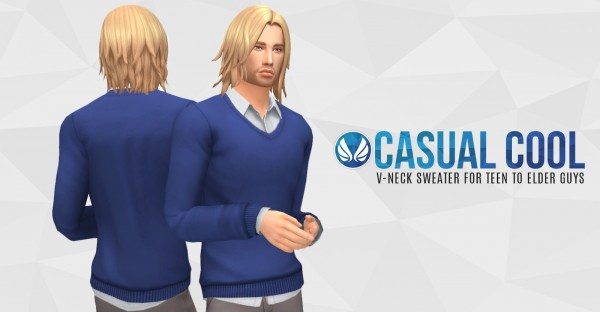 Simsational designs: Casual Cool   V neck Sweater