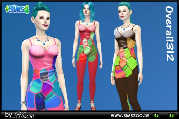 Blackys Sims 4 Zoo: Jumpsuit by Blue36