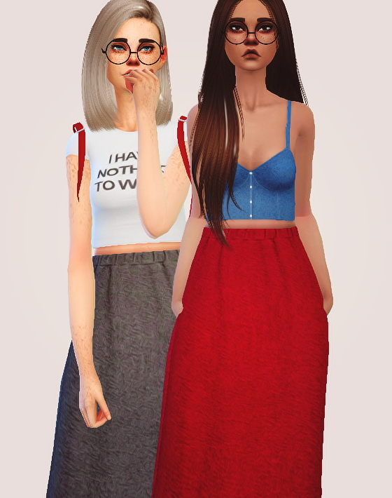 Pure Sims: Cotton maxi skirt