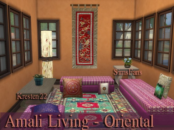 Sims Fans: Amali Living   Oriental Collections by Kresten22