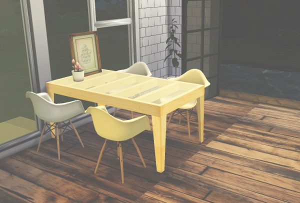Ooh la la simmer: Handcrafted Dining Table