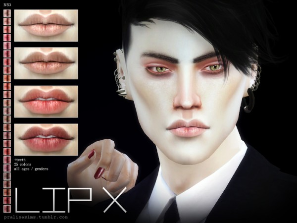 The Sims Resource: Lip X N53 by Pralinesims