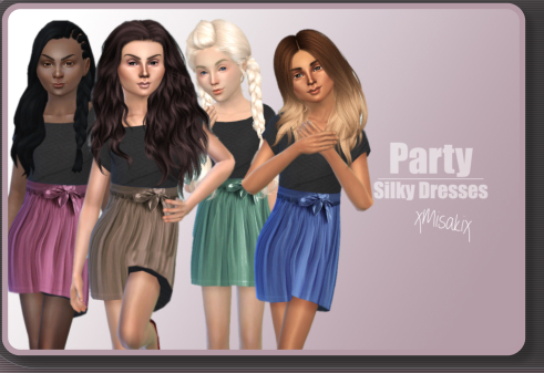 Xmisakix sims: Silky dresses