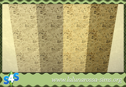 La Luna Rossa Sims: Dirt and Stone Wall