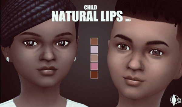 Onyx Sims: Natural lips for girls