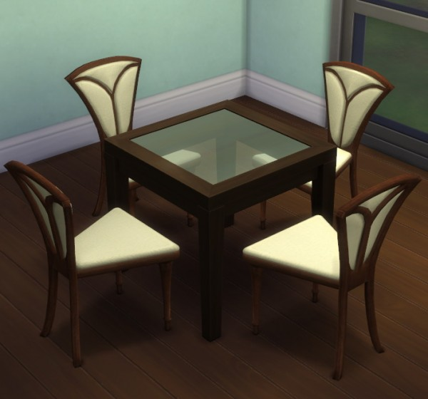 Simsworkshop: Dining Chair converted from TS2 to TS4 by Simple Elegance