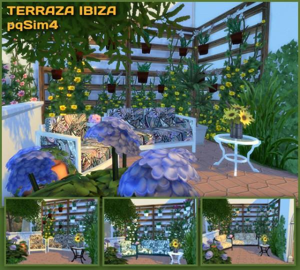 PQSims4: Terrace Ibiza Mediterranean style